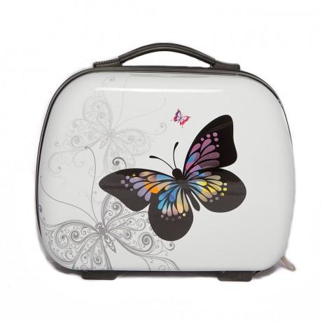 Vanity trousse de toilette semi rigide 34cm - Butterfly - Trolley ADC