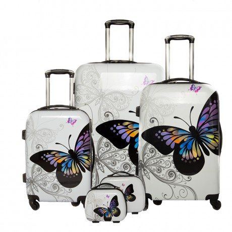 Set de 3 valises 4 roues semi-rigide - Butterfly - Trolley ADC