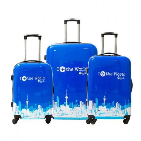 Set de 3 valises 4 roues semi-rigide - World - Trolley ADC