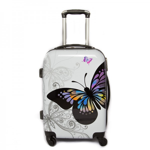 """Valise taille cabine 4 roues 55cm Polycarbonate - Trolley ADC Butterly"""" Rigide."""""""