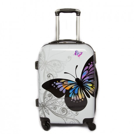 Valise cabine 4 roues 55cm semi-rigide - Butterfly - Trolley ADC